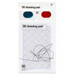 3D drawing pad (incl. 3D-specs)