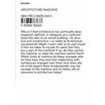 Architecture / Machine: Machine. Programs, Processes, and Performances   Moritz Gleich, Laurent Stalder   9783856763633   gta Papers