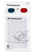 3D drawing pad (incl. 3D-specs)