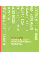 Theoretical Anxiety and Design Strategies. In the Work of Eight Contemporary Architects | Rafael Moneo | 9780262134439