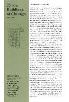 25 Buildings of Chicago Volume 1. 1879-1896 | Florian Fischer, Marius Stadler, Nelly Jana | 9783941370272