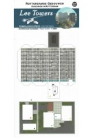 Lee Towers. Bouwplaat Rotterdamse gebouwen