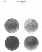 The petanque boule