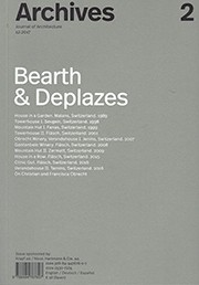 Archives 2. Bearth & Deplazes