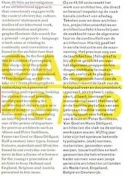 OASE 49 / 50. Conventie