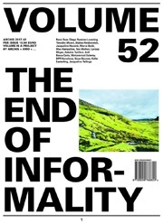 Volume 52. The End of Informality