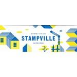 Stampville 25 stamps + 2 ink pads   Aurelien Debat   9781616896010