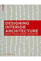 Designing Interior Architecture. Concept, Typology, Material, Construction (paperback edition) | Sylvia Leydecker | 9783034613026