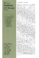 25 Buildings of Chicago Volume 1. 1879-1896   Florian Fischer, Marius Stadler, Nelly Jana   9783941370272