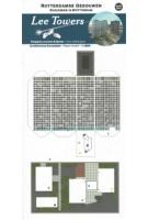 Lee Towers. Paper Model. Buildings in Rotterdam