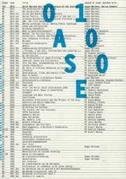 OASE 100. Karel Martens and The Architecture of the Journal