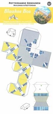 Blaakse Bos - Cube Houses. Paper Model. Buildings in Rotterdam